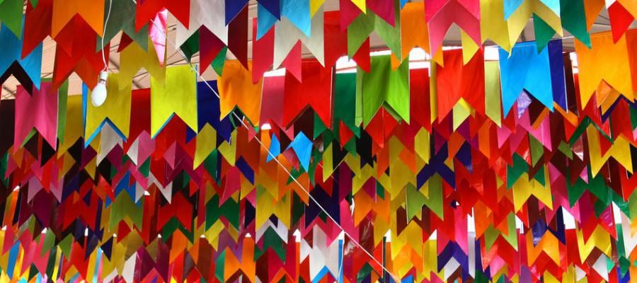 Bandeirinhas de festas juninas